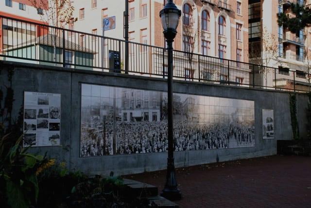 Historic tile murals