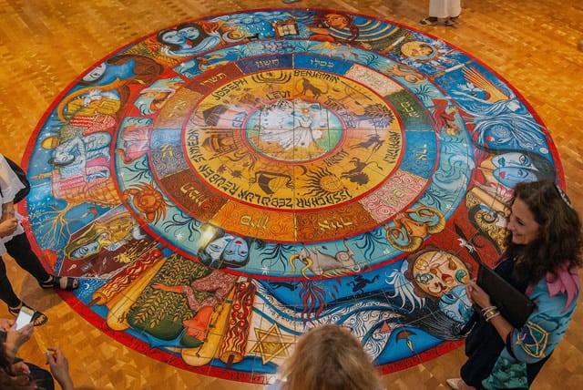 Custom floor tile murals