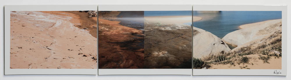 "Nan Smith – Dry/Wet – Water: CodeBlue Series, 2017; photographic china paint decal on porcelain tile, 12"" (h) x 48 1/4 ""(w) x ½"" (d)"